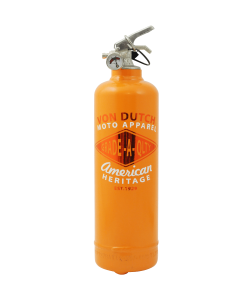 Fire extinguisher design Von Dutch Moto Apparel orange