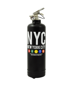 Designer fire extinguisher MTA Brooklyn black