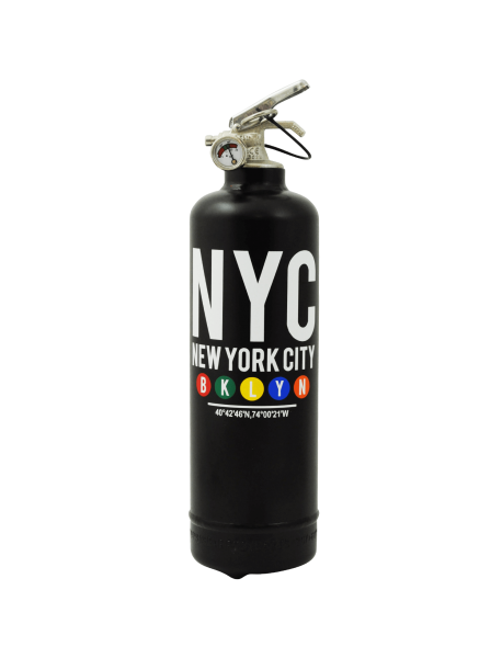 Extincteur déco MTA Brooklyn noir