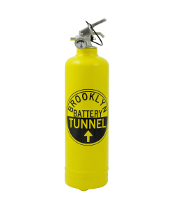 Designer fire extinguisher MTA Brooklyn Tunnel yellow