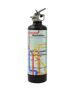 Designer fire extinguisher MTA Manhattan Lines black