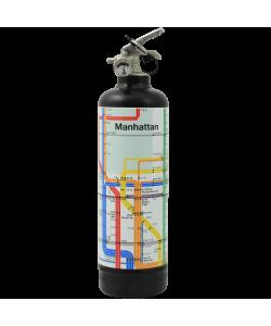 Estintore di design MTA Manhattan Lines nero