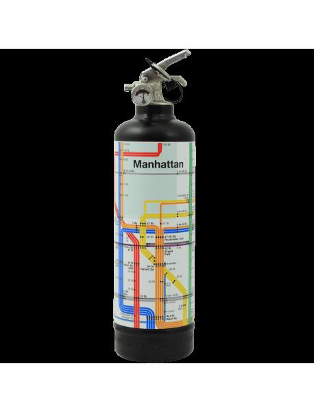 Extincteur déco MTA Manhattan Lines noir