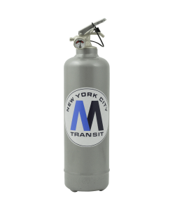 Designer fire extinguisher MTA Metro Transit grey