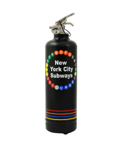Designer fire extinguisher MTA NY City Subways black
