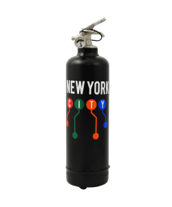 Designer fire extinguisher MTA NYC Lines black