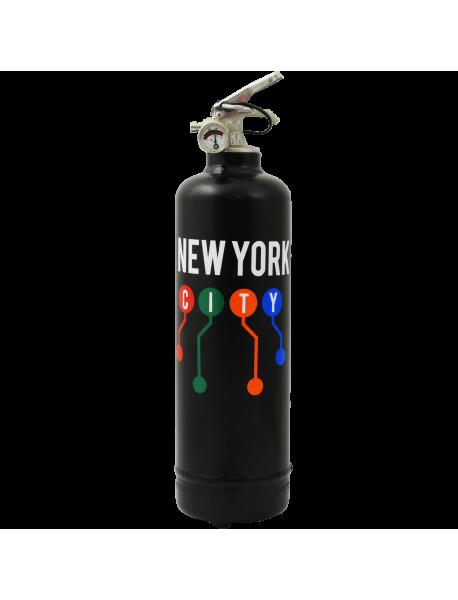 Extincteur déco MTA NYC Lines noir
