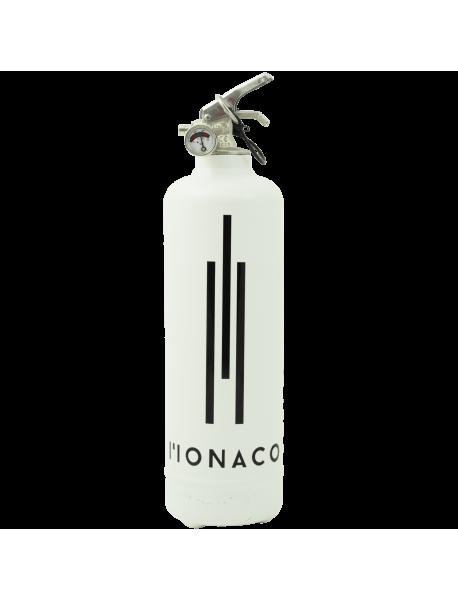 Extincteur design Monaco blanc