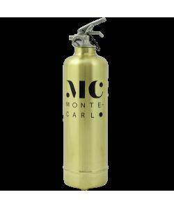 Designer fire extinguisher gold Monte Carlo