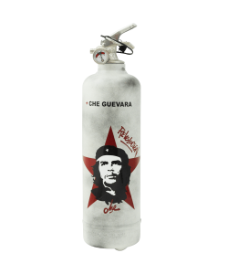 Designer fire extinguisher Che Guevara Revolution white