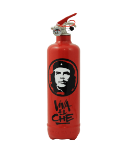 Designer fire extinguisher Che Guevara Viva red