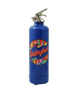 Designer fire extinguisher kitchen Babybel Logo Motifs blue