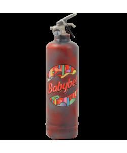 Designer fire extinguisher kitchen Babybel Logo Motifs vintage