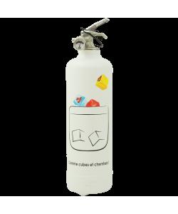 Designer fire extinguisher kitchen Apericube Chemises white