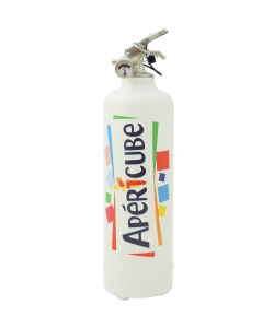 Designer fire extinguisher kitchen Apericube Logo white