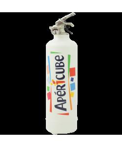 Extincteur cuisine Apericube logo blanc