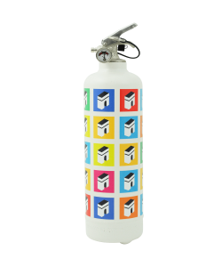 Designer fire extinguisher Champs Élysées white multicolor