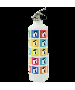 Designer fire extinguisher Champs Élysées white multicolor