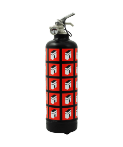Designer fire extinguisher Champs Élysées multi black red