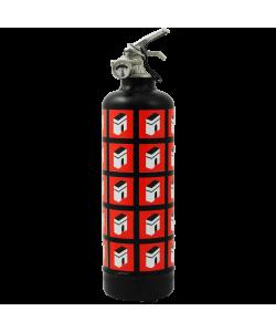 Designer fire extinguisher Champs Élysées multi black red