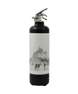 Designer fire extinguisher Mont Saint Michel