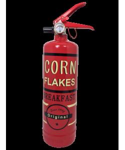 Estintore design Corn Flakes giallo