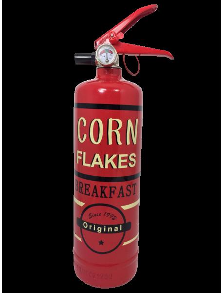 extincteur design Corn Flakes rouge original