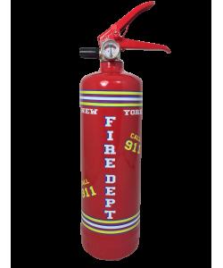 Fire extinguisher design Corn Flakes yellow