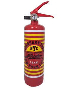 Fire extinguisher design Corn Flakes yellow
