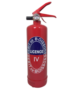 extincteur design Licence IV rouge