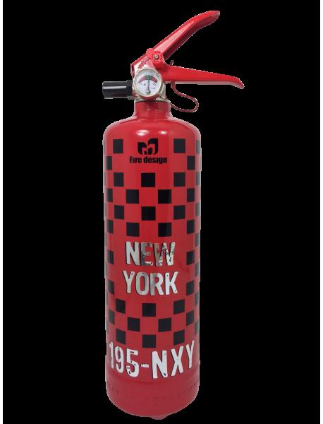extincteur design Taxi NY rouge