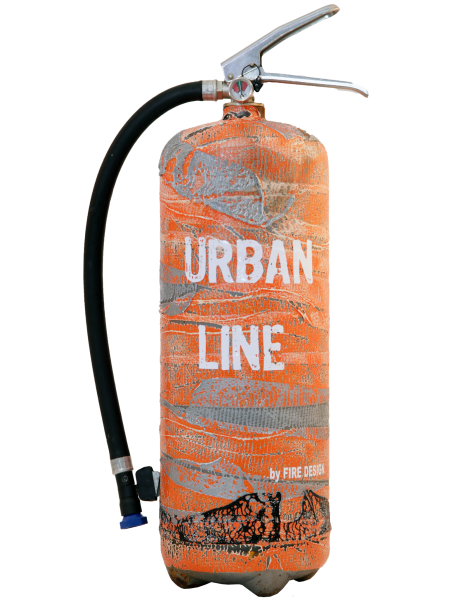 Extincteur design LOFT Urban Line Orange Série Limitée