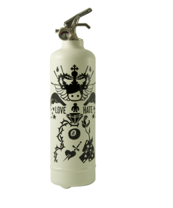Fire extinguisher design AKLH Tatoo white