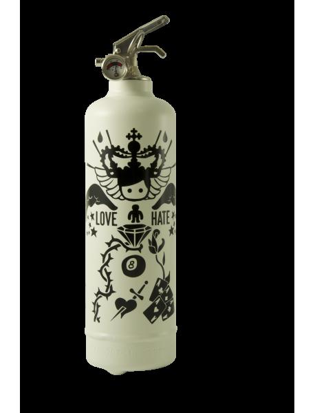 Estintore design AKLH Tatoo Bianco