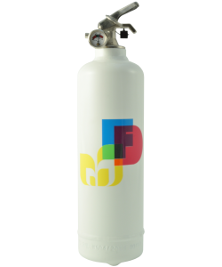 Fire extinguisher design Colors white