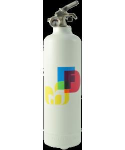 Fire extinguisher design Colors white