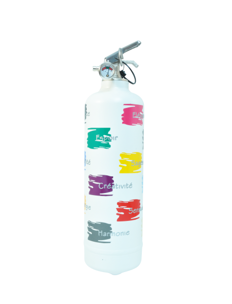 Fire extinguisher design Couleurs white