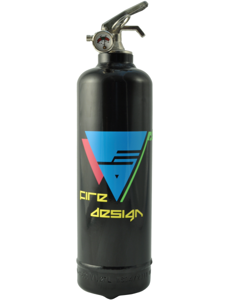 Fire extinguisher design Electro black