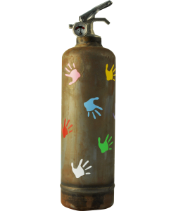 Fire extinguisher design Empreintes vintage