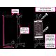 Fire extinguisher design Lines black pink