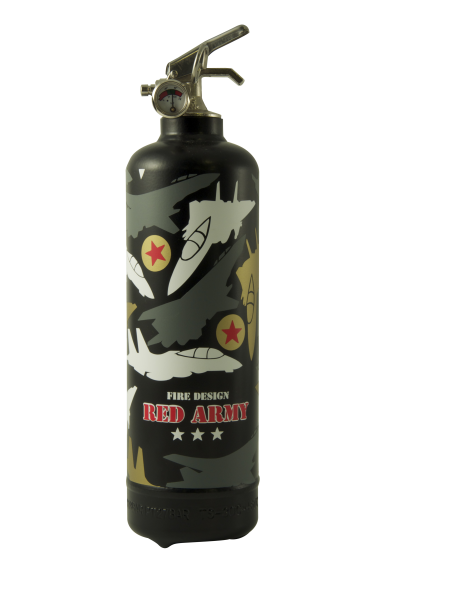 Fire extinguisher design Red Army black