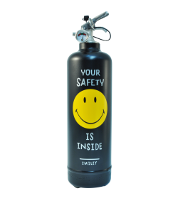 Fire extinguisher design Smiley Safety black