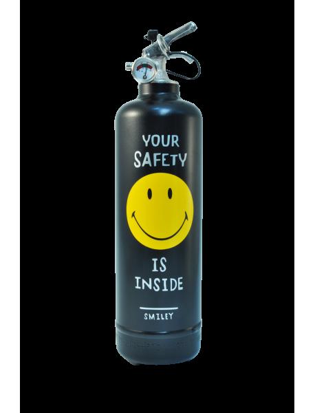 Fire extinguisher design Smiley Safety black
