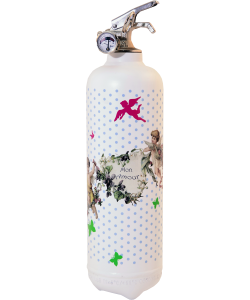 Fire extinguisher design Parischeri Angello white