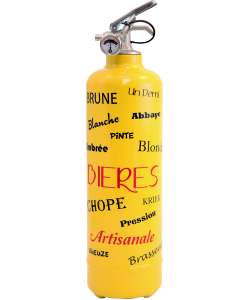 Fire extinguisher home Bière yellow