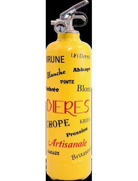 Estintore design Bière giallo