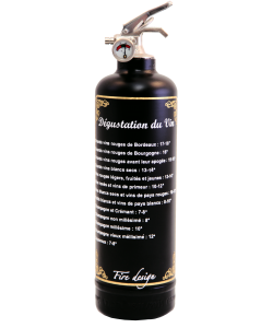 Fire extinguisher design Dégustation black