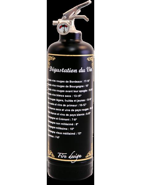 Extincteur décoratif Dégustation noir