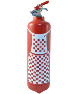 Fire extinguisher kitchen Tablier Bistrot red