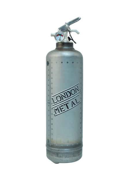 Fire extinguisher vintage Metal London